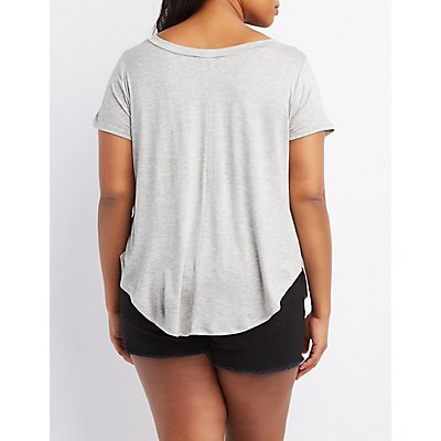 Plus Size Short Sleeve Graphic Tee