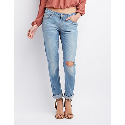 Refuge Skinny Boyfriend Ripped Knee Jeans