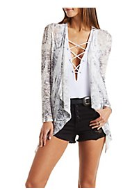 Printed Cascade Cardigan Sweater