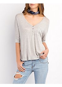 Dolman Sleeve Henley Top