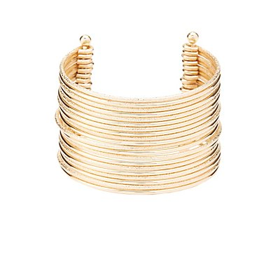 Layered Open Cuff Bracelet