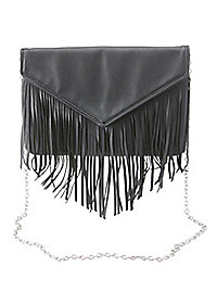 Fringe Envelope Crossbody Bag