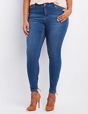 Plus Size Medium Wash Skinny Jeans