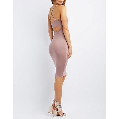 Strappy Open-Back Bodycon Dress