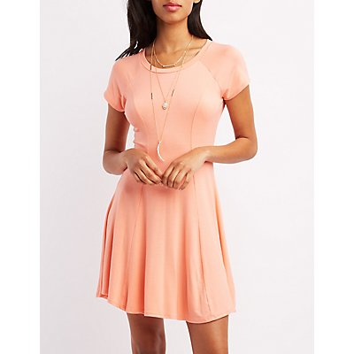 Raglan Sleeve Swing Dress
