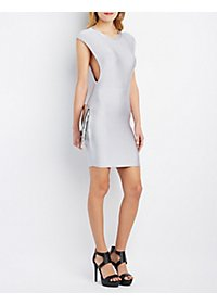 Rehab Crew Neck Bodycon Dress