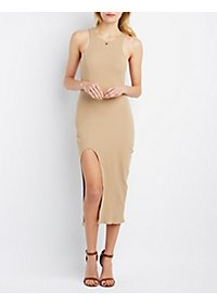 Rehab High Slit Bodycon Dress