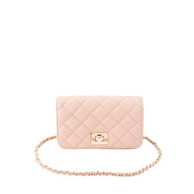Quilted Chain Strap Crossbody Bag