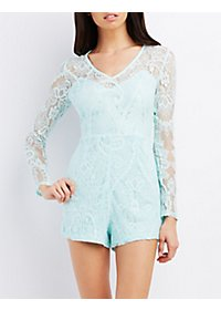 Lace Long Sleeve Romper