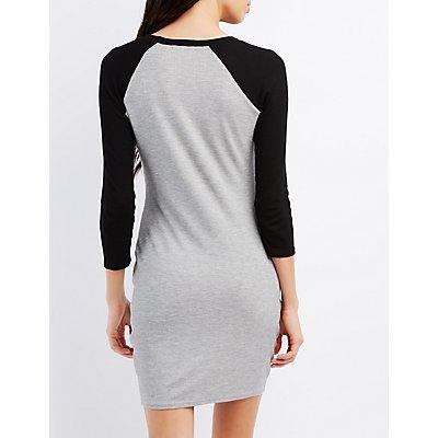Raglan Sleeve Thermal Dress
