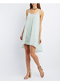 Lace-Inset Shift Dress