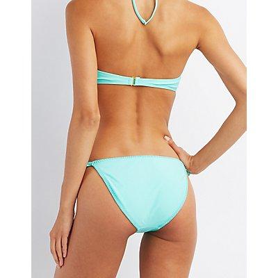 Ruffle Accent Cheeky Bikini Bottoms