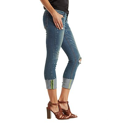Dollhouse Distressed Cropped Jeans