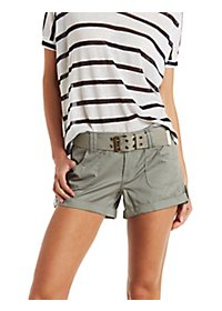 Dollhouse Belted Cargo Shorts