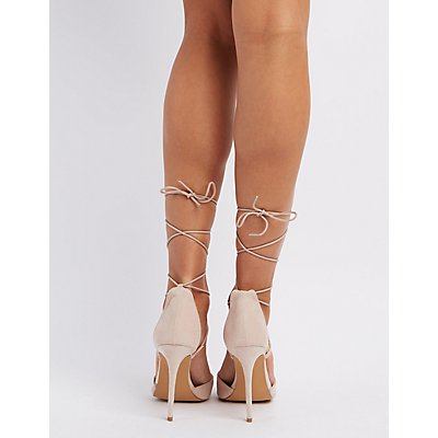 Lace-Up D'Orsay Pumps