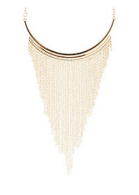 Chain Fringe Arc Necklace