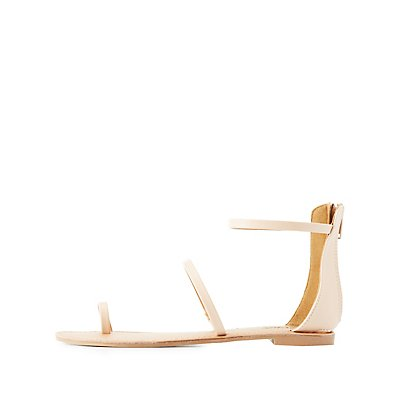Strappy Toe Loop Sandals