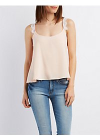 Eyelash Lace-Trim Tank Top