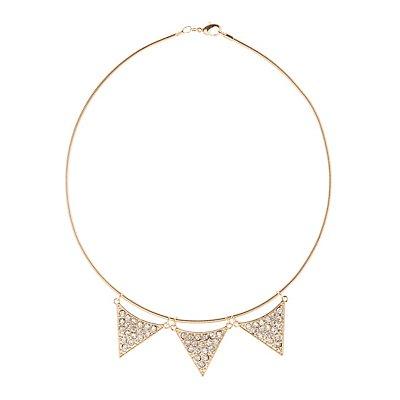 Embellished Charm Choker Necklace