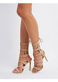 Lace-Up Gladiator Dress Sandals