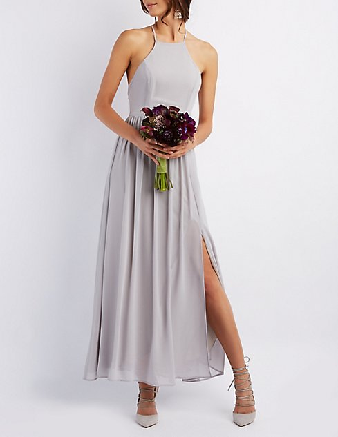 Bib Neck Maxi Dress | Charlotte Russe