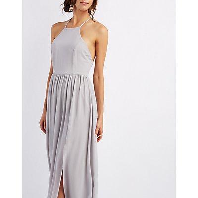 Bib Neck Maxi Dress