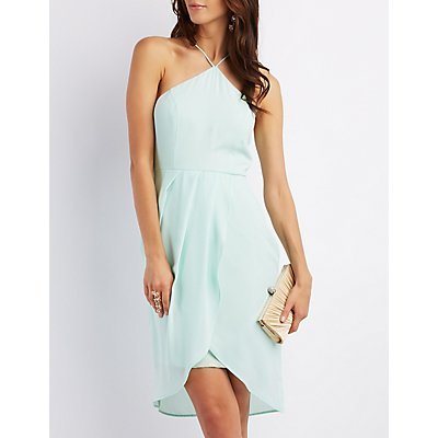 Strappy Envelope Hem Dress