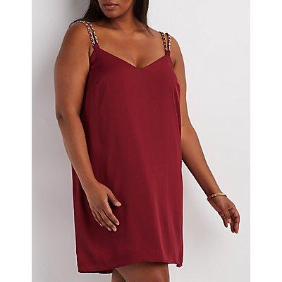 Plus Size Chain Strap Shift Dress