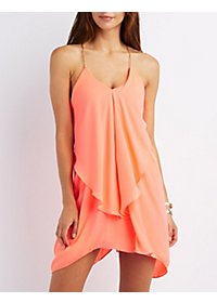 Cascade Ruffle Dress