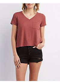 Ribbed Pocket Boyfriend Tee