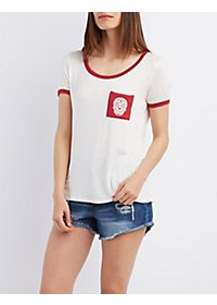 Graphic Ringer Pocket Tee