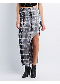 Asymmetrical Cut-Out Maxi Skirt
