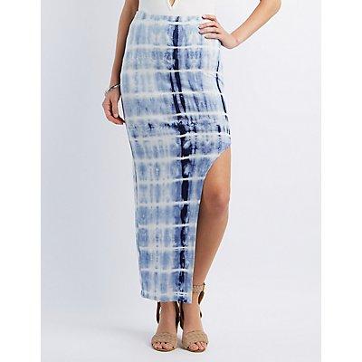 Tie-Dye Cut-Out Maxi Skirt