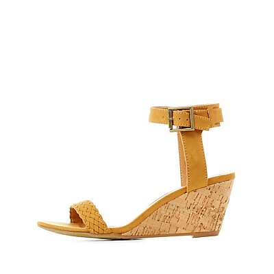 Braided Strap Wedge Sandals