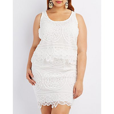 Plus Size Crochet Sleeveless Crop Top