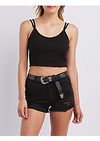Double Strap Cropped Tank