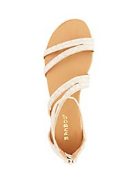 Bamboo Asymmetrical Strappy Sandals