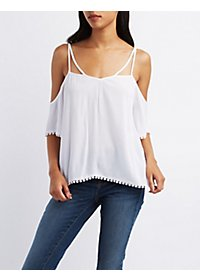 Open-Back Cold Shoulder Top