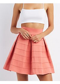 Pleated Bandage Skater Dress