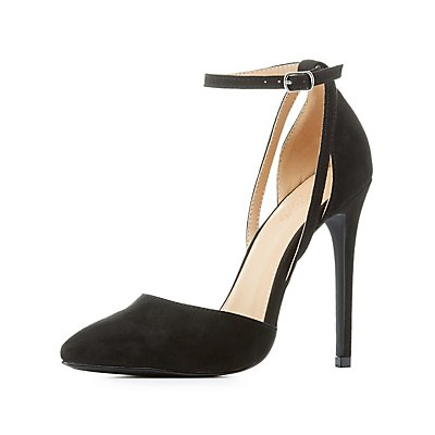 Two-Piece Pointed Toe Heels