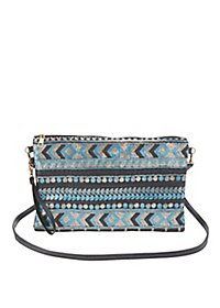 Sequined Convertible Crossbody Bag