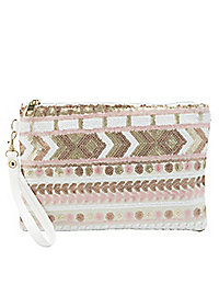 Sequined Convertible Clutch
