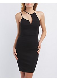 Asymmetrical Cut-Out Bodycon Dress