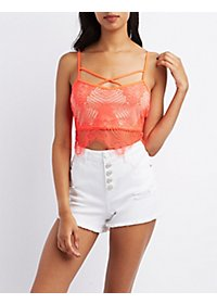 Strappy Lace Crop Top