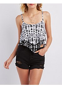 Layered Sleeveless Crop Top