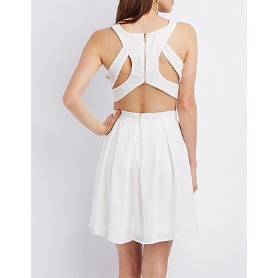 Cut-Out Sleeveless Crop Top