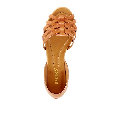 Bamboo Two-Piece Huarache Sandals