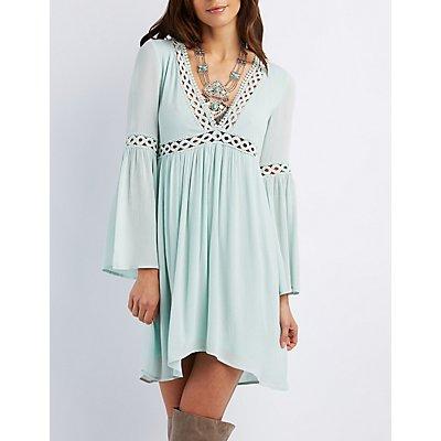 E.SSUE Crochet-Trim Babydoll Dress