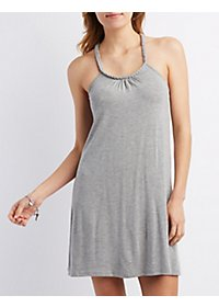 Braided Racerback Shift Dress