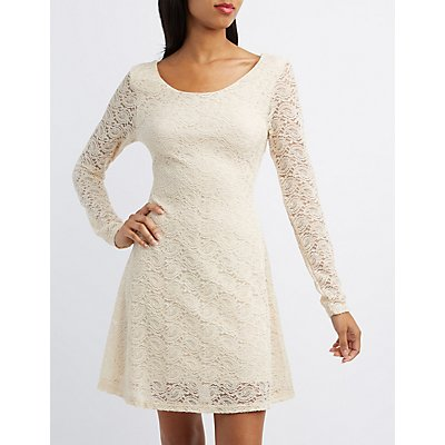 Paisley Lace Skater Dress